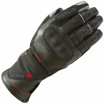 Merlin Saros Outlast Mixed Leather Textile Waterproof Motorcycle Motorbike Glove